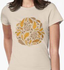 Chêne et écureuils | Palette de jaunes d'automne T-shirt col V femme