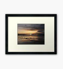 Clouded Sunrise Over Lake Framed Print