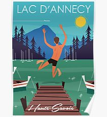 Lac D'Annecy poster Poster
