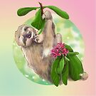 Sloth with baby by Birgit Schiffer