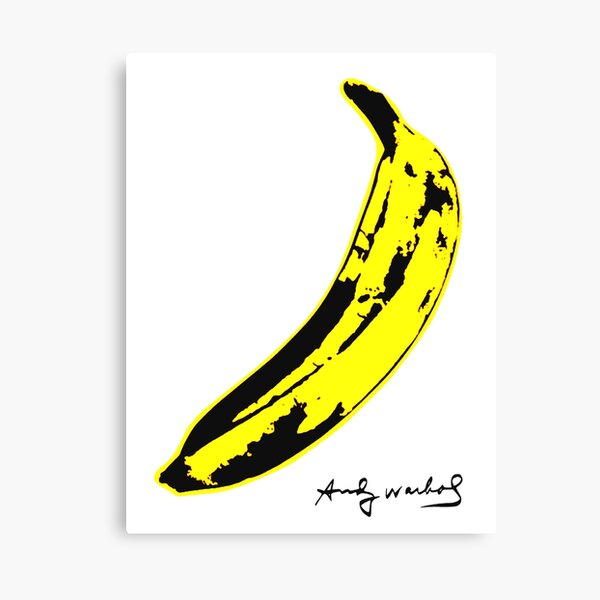 Banane warhol Impression sur toile