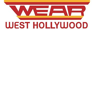 WEAR WEST HOLLYWOOD SHIRT RETRO 80s BRITISH ROCK ICON by vasebrothers