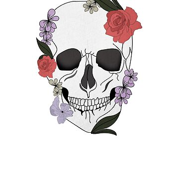 Skull floral Rose Vintage Day of the Dead by dukito