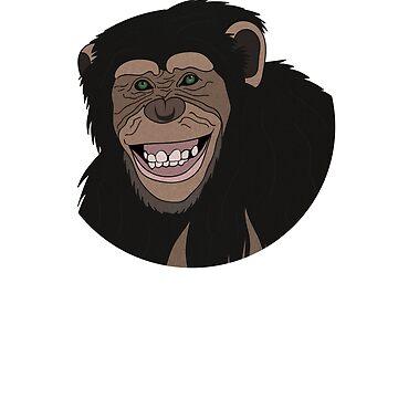 Funny Chimpanzee Smiling Jungle  by dukito