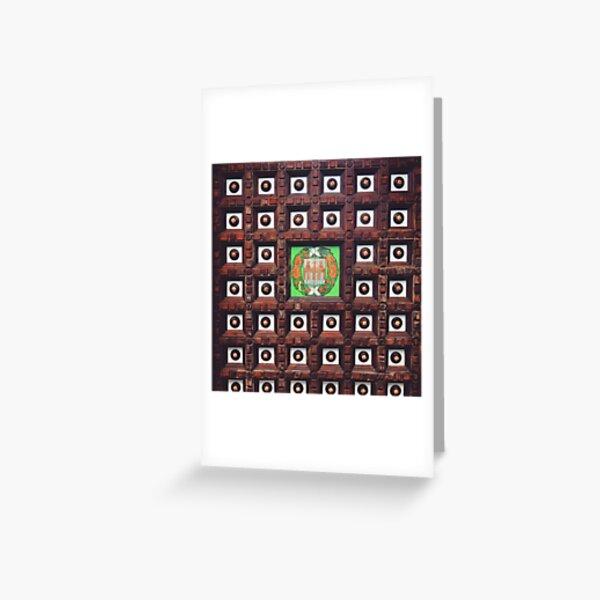 Cieloraso con escudo español Tarjetas de felicitación