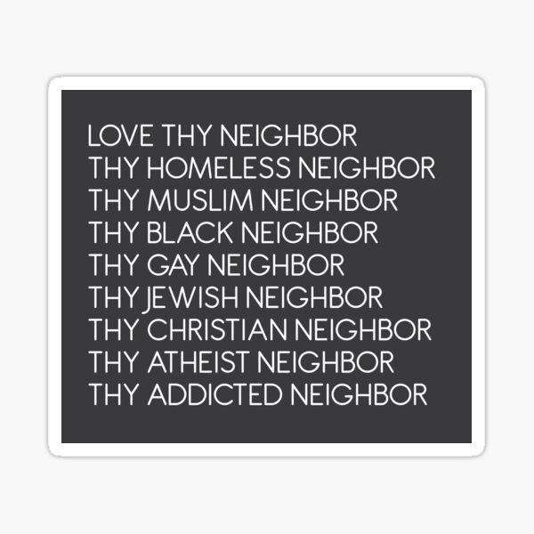Liebe deinen Nächsten Sticker