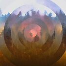 A Forest Portal Nature Geometric Abstract by artcascadia