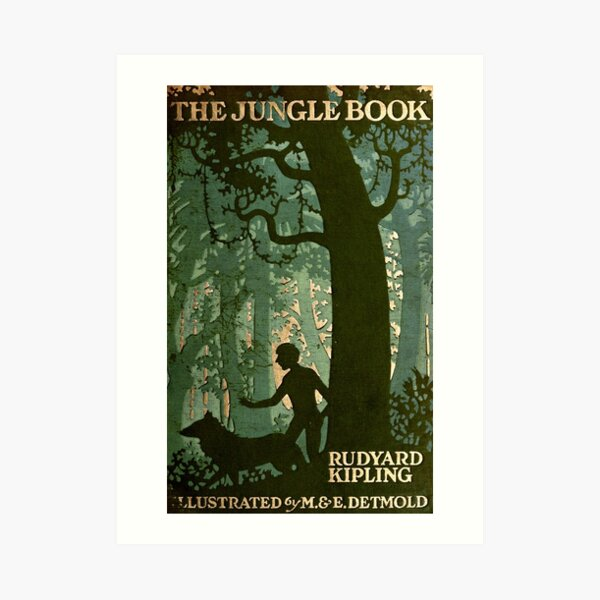 Das Dschungelbuch - Rudyard Kipling, M. & E. Detmold Kunstdruck