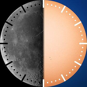 Half moon half sun clock by LukeSzczepanski