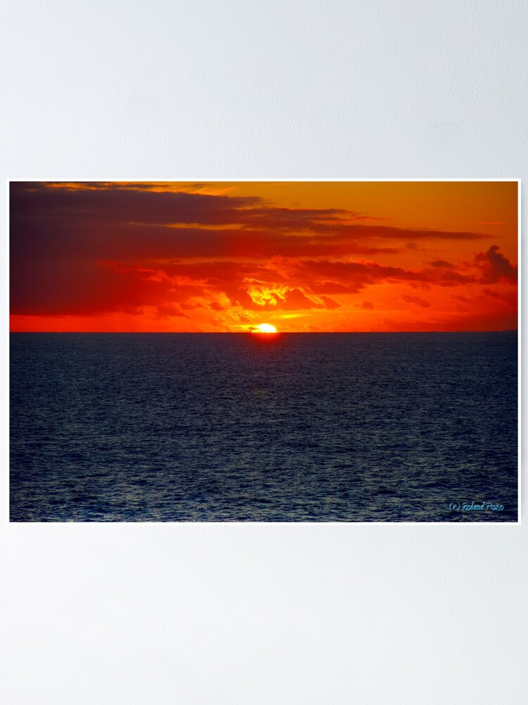 Alternate view of Sunrise in the Caribbean Poster