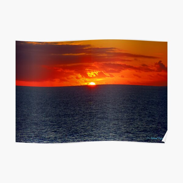 Sunrise in the Caribbean Poster