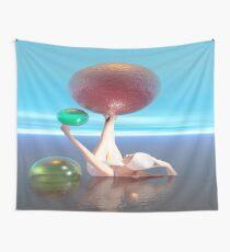 Bañista con esferas de colores Wall Tapestry