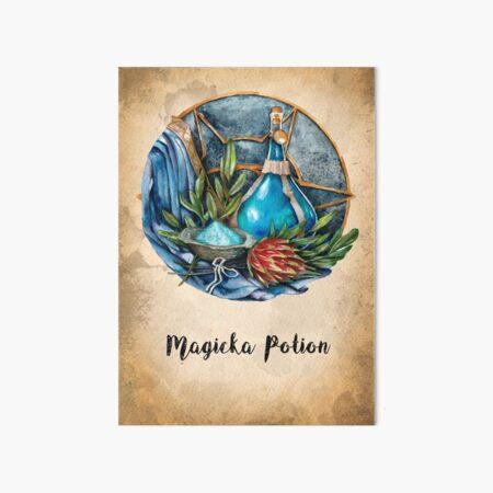 Magicka Potion and ingredients Art Board Print