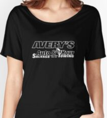 dbb3561d Avery's Auto Salvage & Towing T-shirt, Manitowoc Wisconsin Women's Relaxed  ...