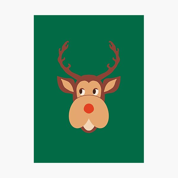 Head of Deer design like the Mark Darcy s Pullover  Photographic Print