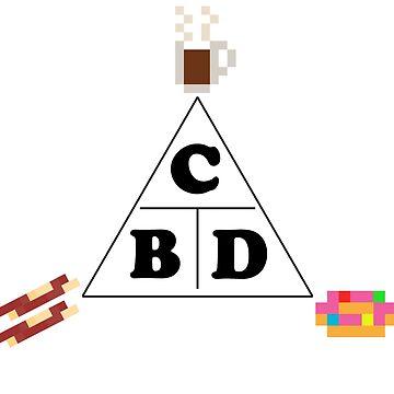 CBD Coffee Bacon Donut Trinity by gkillerb