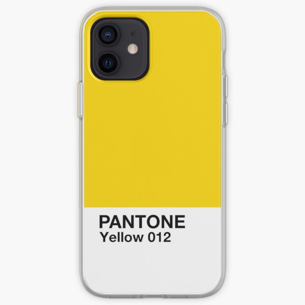 Pantone - Jaune 012 Coque souple iPhone