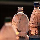 Brown plastic bottles. by fotorobs