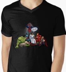 AND THAT'S HOW I SAVED THE WORLD! - Jesus Men's V-Neck T-Shirt