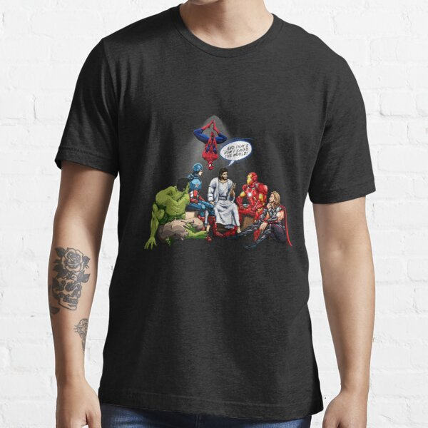 AND THAT'S HOW I SAVED THE WORLD! - Jesus Essential T-Shirt