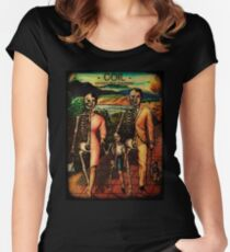 Skeletal Coil Family Women's Fitted Scoop T-Shirt