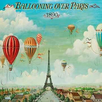 Vintage Hot Air Balloons in Paris by Glimmersmith