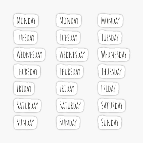 Journal calendrier agenda planificateur 2019 pour journal et agenda - en semaine Sticker
