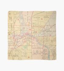 Pañuelo Mapa Vintage de Auburn NY (1904)