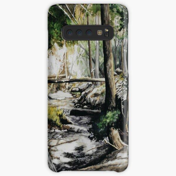 Original watercolor painting of a mountain creek Samsung Galaxy Snap Case