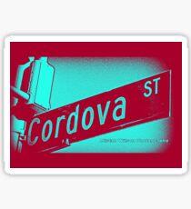 Cordova Street BLUE ACAI Pasadena California by Mistah Wilson Photography Sticker