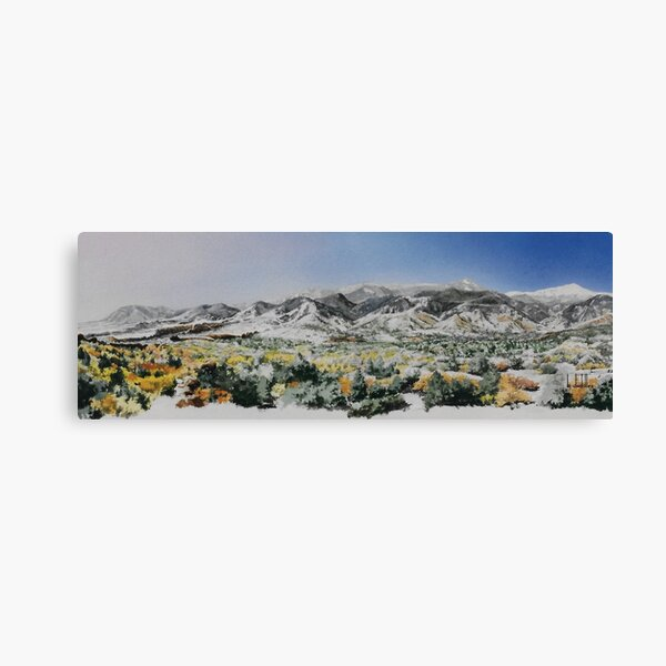 Original watercolor of the Colorado Springs front range Canvas Print