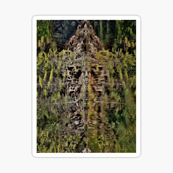 Nature's fractal 2: Northwest Bay Brook, NY Sticker