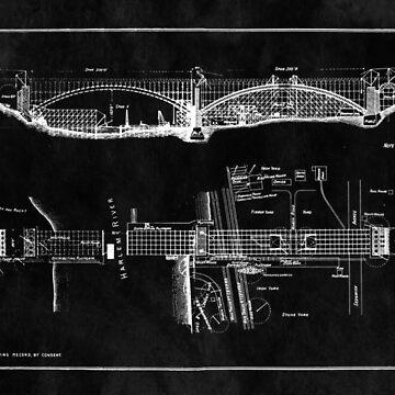 George Washington Bridge Engineering Blueprint by Glimmersmith