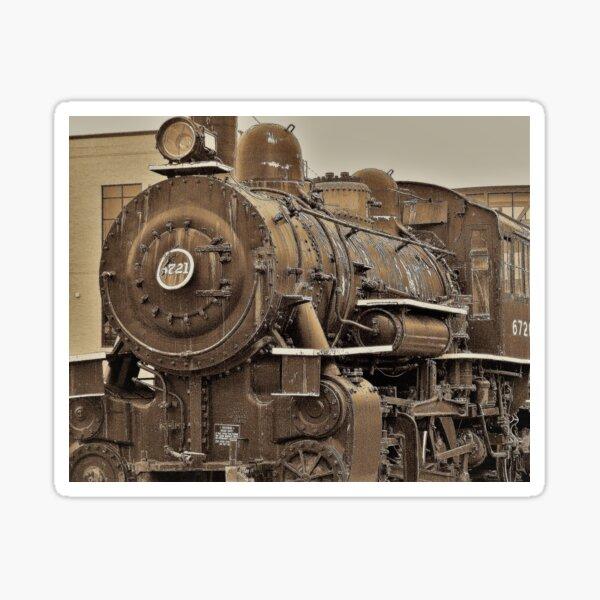 Old Fashioned Steam Engine Sticker