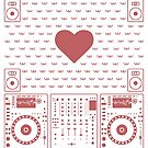 DJ Xmas Heart  (red) by Kniffen