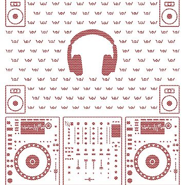 DJ Xmas Headphones  (red) by Kniffen