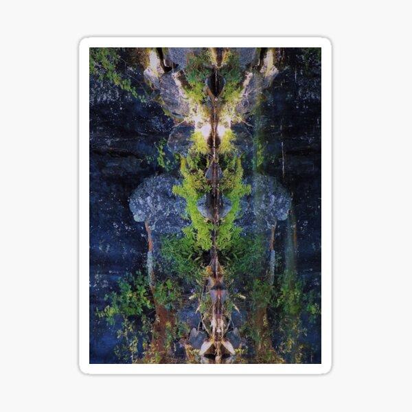Nature's Fractal 5: Northwest Bay Brook, New York Sticker