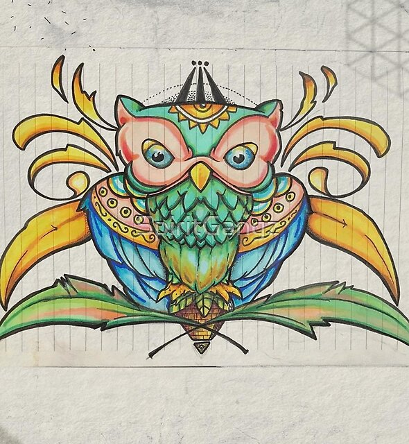 Sacred Geometry Owl  by SpiritGangz
