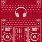 DJ Xmas Headphones  (white) by Kniffen