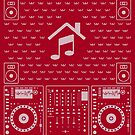 DJ Xmas House (white) by Kniffen