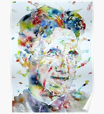 GEORGE ORWELL - watercolor portrait.3 Poster