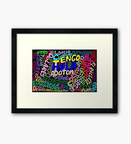 Espanol esoterico Framed Print