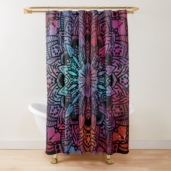 Mandala Yoga Sunset / Spiritual Yoga Meditation Hippie Mandala Shower Curtain