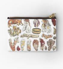 Corals  - pen and watercolour drawing / painting - Travelling, holidays, beach Zipper Pouch