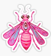 Pink Bee - Acrylic Painting Sticker