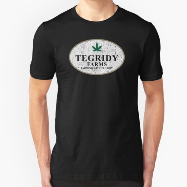 Tegridy Farms - Farming With Tegridy Slim Fit T-Shirt