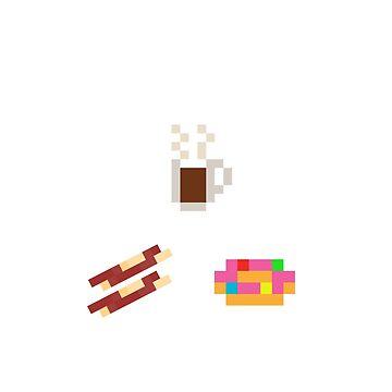 Coffee Bacon Donut Triangle by gkillerb