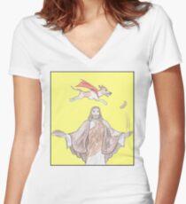 Wondrous underdog Women's Fitted V-Neck T-Shirt