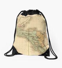 Vintage Map of Guatemala (1825) Drawstring Bag