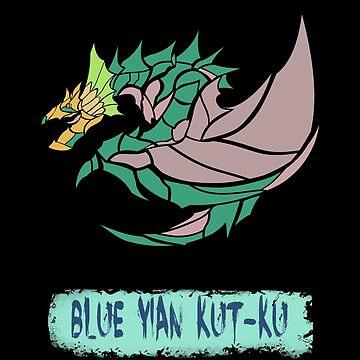 The Circular Blue Strange Bird by drakenwrath